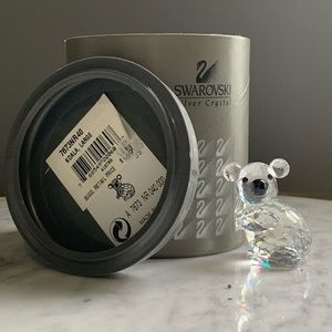 🎁NIB Retired Swarovski Crystal Koala #7673 Large